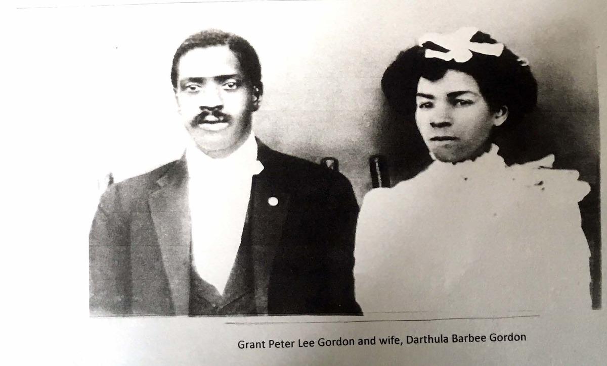 Grant Peter Lee Gordon; Grant Peter Lee Gordon and wife, Darthula Gordon