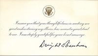 Letter from D.D.  Eisenhower to Culture Club